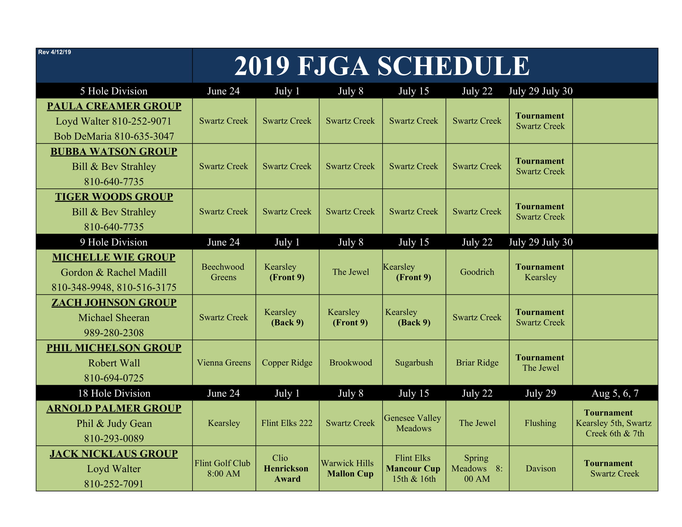 Copy of 2019 FJGA schedule Sheet1 1